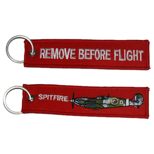 "Keyring ""REMOVE BEFORE FLIGHT"" SPITFIRE"