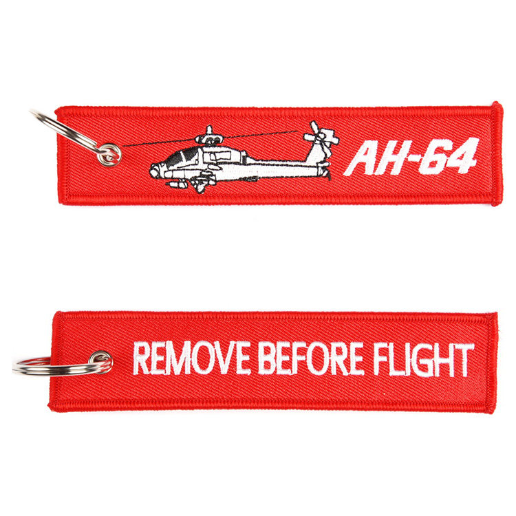 "Keyring ""REMOVE BEFORE FLIGHT"" AH-64"