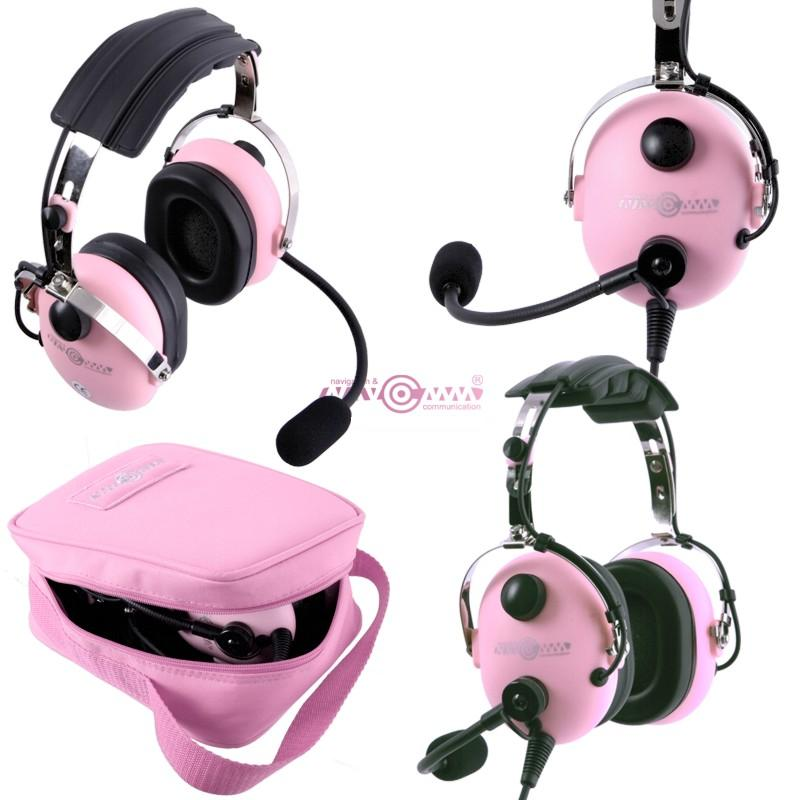 Child's aviation headset NC-50 Pink