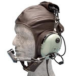 Aviation leather helmet