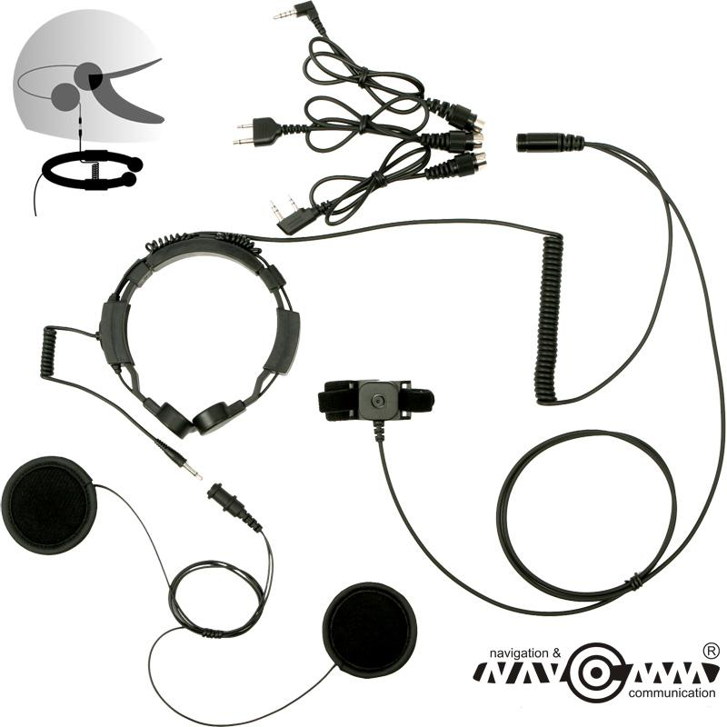 Headphone set with throat mic LGF-22H