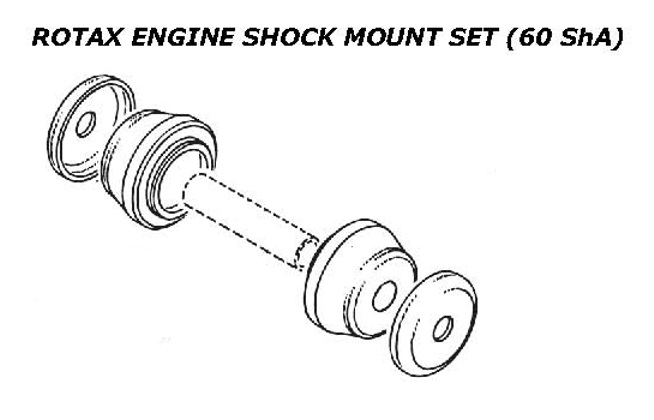 Rotax engine shock mount set