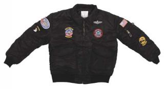Children pilot jacket CWU-45 with patches