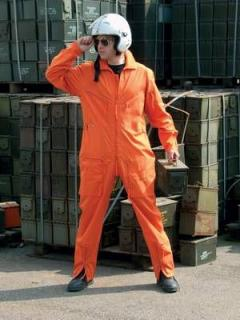 Flight suit BW - orange