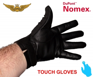 Short NOMEX touch gloves - black