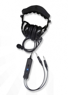 ANR headset PA-1000BT with Bluetooth Carbon