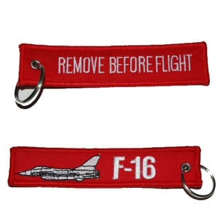 "Keyring ""REMOVE BEFORE FLIGHT"" F-16"