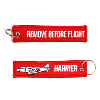 "Keyring ""REMOVE BEFORE FLIGHT"" HARRIER"
