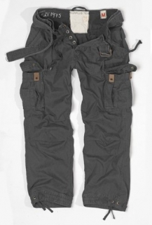 PREMIUM VINTAGE trousers - black